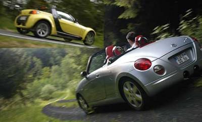 Vergleichstest, Daihatsu Copen, Smart Roadster