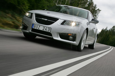 Saab 9-5, Frontpartie, Front