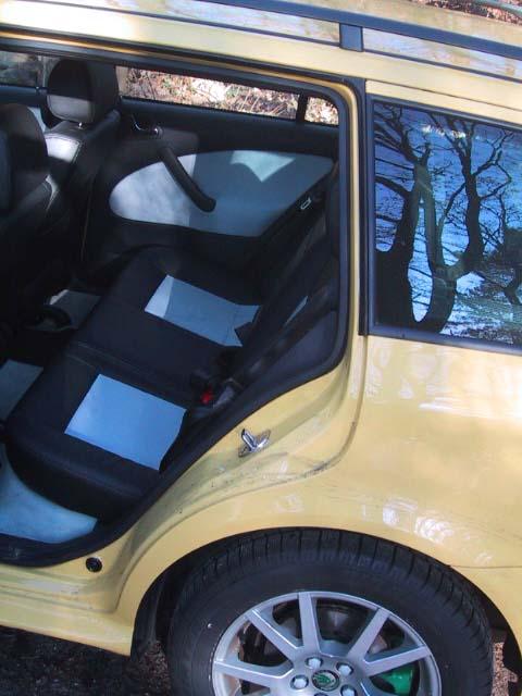 Octavia RS Combi hinten sitzen