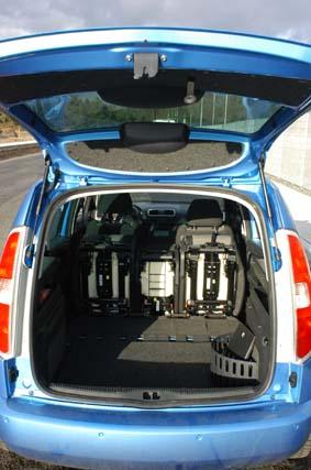 Skoda Roomster, Kofferraum, trunk