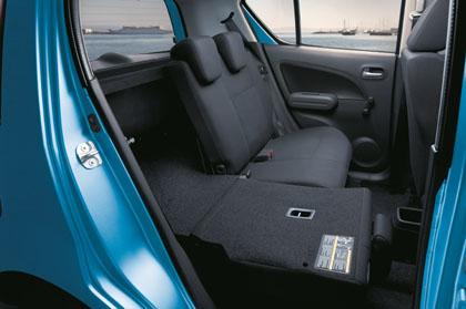 Suzuki Splash: laden, Kofferraum