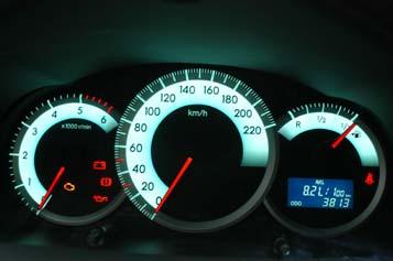 Toyota Corolla Verso Instrumente Cockpit