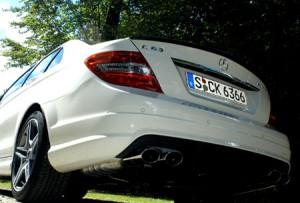 AMG Mercedes C63: Auspuff