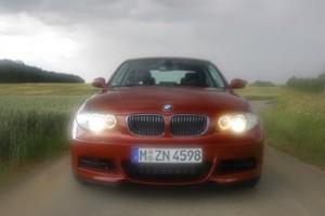 BMW 135i Coupe: von vorne, Front, Frontpartie, Scheinwerfer