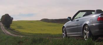 BMW 320 Diesel Cabrio Test: Dach offen, Seitenansicht