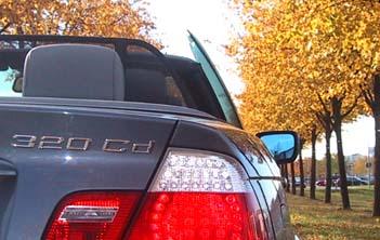 BMW 320Cd Cabrio Fahrbericht: Heck, Heckleuchten
