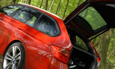 BMW 320d Kombi Testbericht: Heckklappe, Kofferraum, Felgen