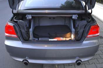 BMW 335i Cabrio: Kofferraum, trunk, boot