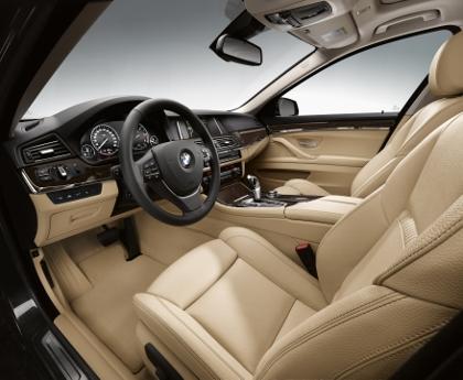 BMW 5er Facelift: Sitze, Innenraum, Lenkrad, interior, Ledersitze
