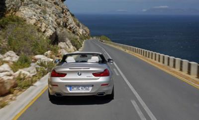 BMW 650i Cabrio Test: von hinten, Heck, Dach offen