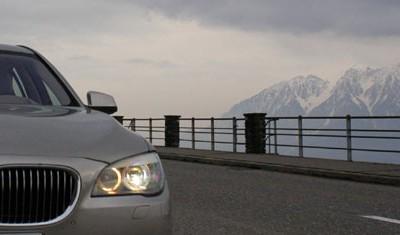 BMW 750i Test: Front, Scheinwerfer, Niere, von vorne, Frontpartie