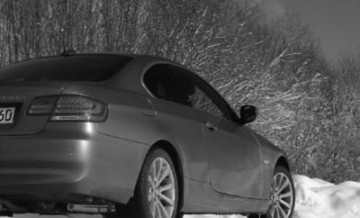 BMW 3er Coupe 330xd Test: mit Allradntrieb, Heck, von hinten, Seite