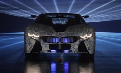 BMW i8 Concept Car: von vorne, Front, Scheinwerfer