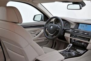 Neuer BMW 5er Innenraum, interior, Cockpit, Sitze, Mittelkonsole