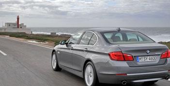 Neuer BMW 5er Test: Heckansicht, von hinten, Heck
