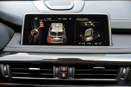 Neuer BMW Fahrbericht: Winkelanzeige, xDrive status, offroad, anzeigen, Gradanzeige
