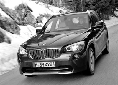 BMW X1 28i Test: von vorne, Front, Frontspoiler