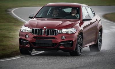 BMW X6 M50d auf der Teststrecke, von vorne, Seite