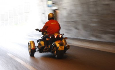 Can-am Spyder Roadster Fahrbericht: von hinten, Heck