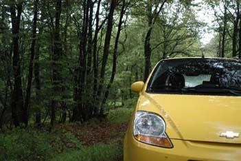 Chevrolet Matiz 1.0 mit Gastank im Test: Front, Frontpartie, Scheinwerfer