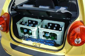 Chevrolet Matiz: Kofferraum, trunk, boot