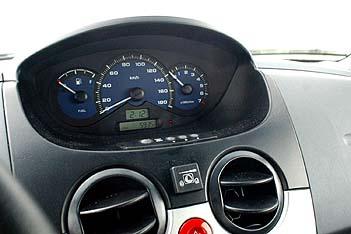 Chevrolet Matiz Testbericht: Cockpit, Tacho