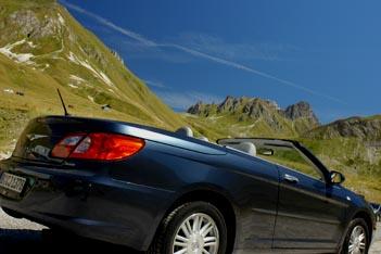 Chrysler Sebring Cabrio Benziner Testbericht: Seitenasicht, von der Seite