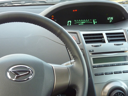 Daihatsu Charade Test: Cockpit, Tacho, Lenkrad, steering wheel