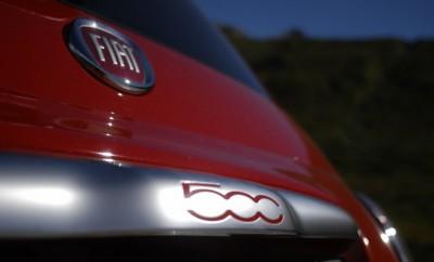 Fiat 500 1.3 Diesel Test: Emblem, Heck