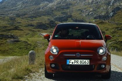Fiat 500 mit 1,3 Liter Dieselmotor im Test: Front, Scheinwerfer
