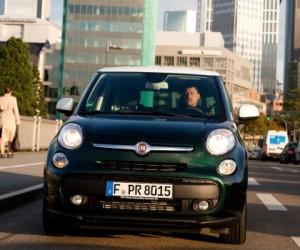 Fiat 500L Living: Front, von vorne, Scheinwerfer