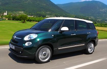Fiat 500L Living: Seite, Seitenansicht