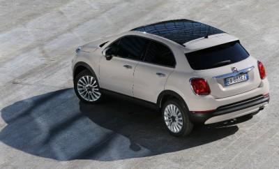 Fiat 500 X Test: von hinten, Heck, Seitenansicht, Seite