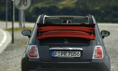 Fiat 500C 1.2 Test: Verdeck, Heck, von hinten