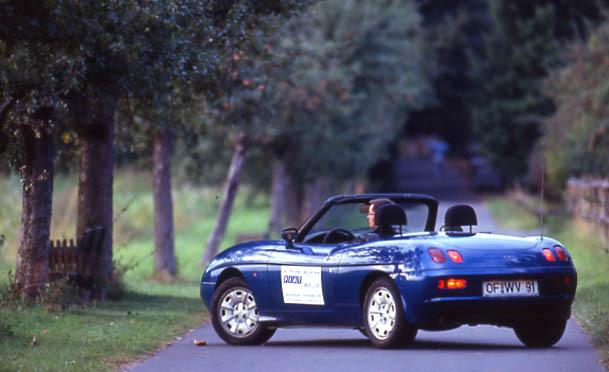 Fiat Barchetta 1.8 Test: von hinten, Heck, Seite