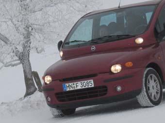 Fiat Multipla mit Dieselmotor: Front, Scheinwerfer, Schnauze