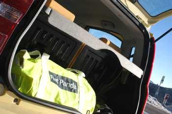 Fiat Panda 4x4 Test: Kofferraum, trunk, boot