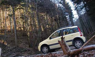 Fiat Panda Climbing 4x4 Test: Seite, Seitenansicht
