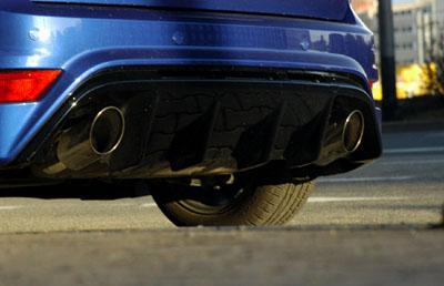 Ford Focus RS: Auspuf, Doppelauspuff, Diffusor