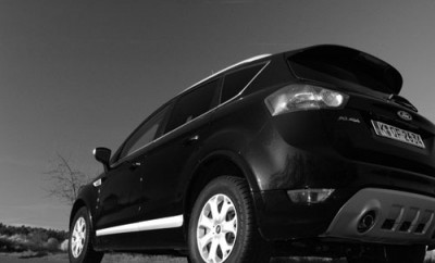 Ford Kuga Diesel Test: Heck, Seite