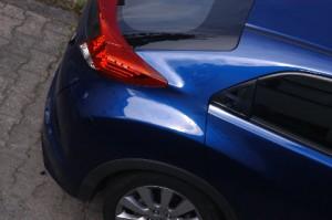 Honda Civic 1.8 Sport Testbericht: Heckpartie, Heck, Sicht
