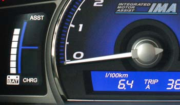 Honda Civic Hybrid Test: Sparen, Sparanzeige, charge, assts