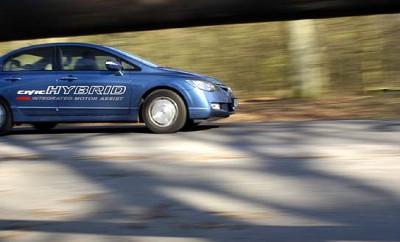 Honda Civic Hybrid Test: seite, vorne