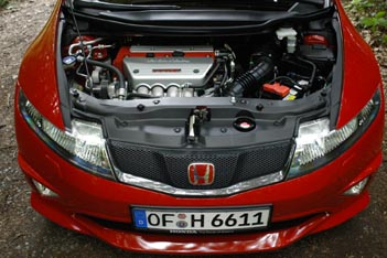 Honda Civic Type R Test: 201 PS Motor, 201 hp engine