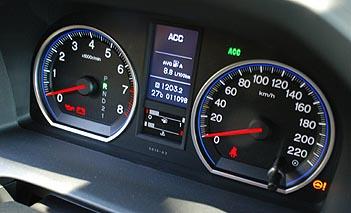 Honda CRV 2.0i: Instrumente, Tacho, Drezhalmesser