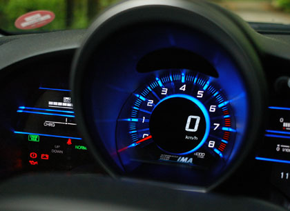 Honda CR-Z Hybrid Test: Cockpit, Tacho digital