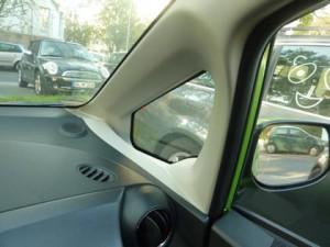 Honda Jazz Hybrid Test: Sicht, Sicherheit