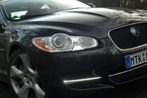 Jaguar XF Diesel S: Front, Scheinwerfer, Tagfahrlicht