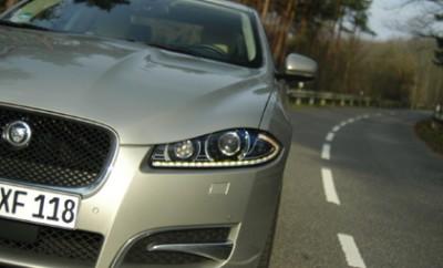Jaguar XF Diesel S Test: Front, LEDs