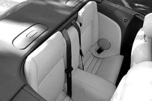 Jaguar XK Cabrio 4.2: hinten sitzen